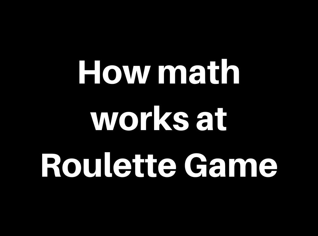 math roulette tricks