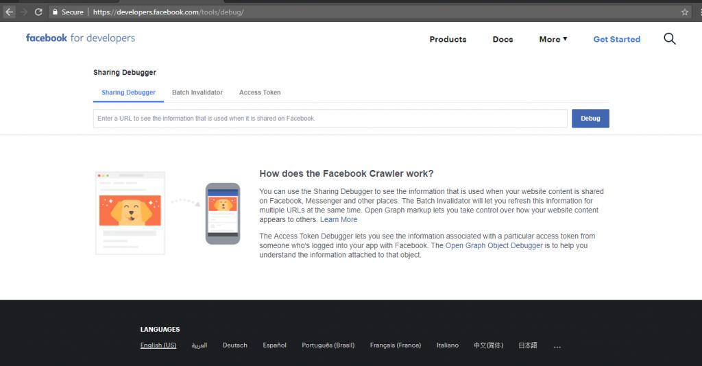 how the Facebook Debugger work