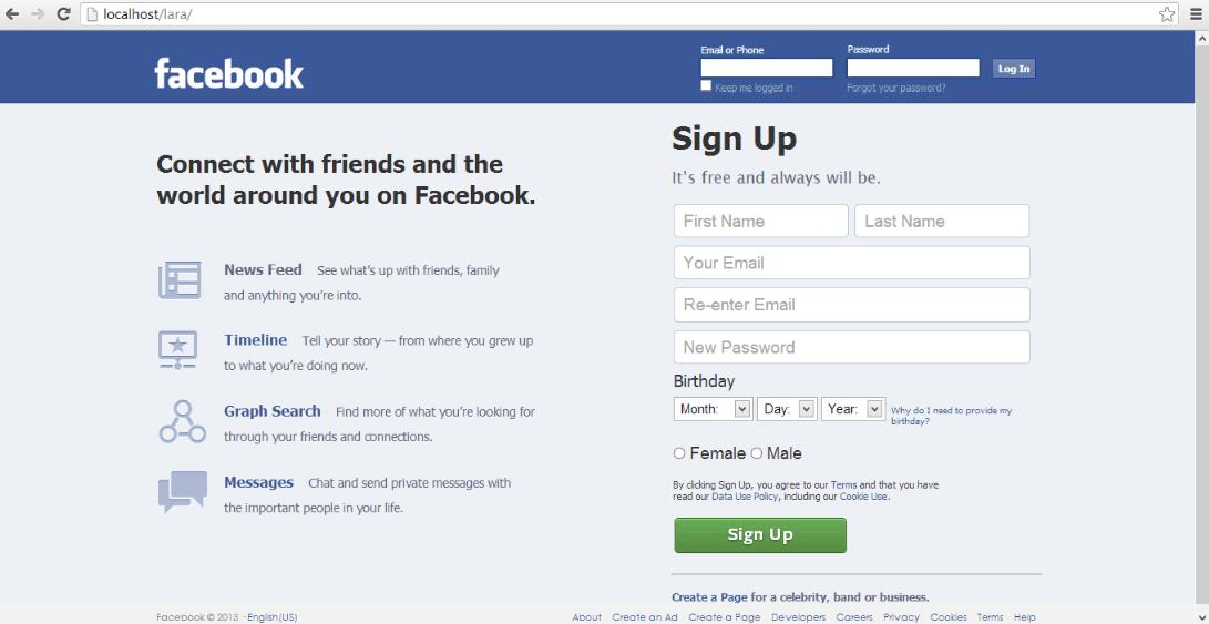 facebook clone