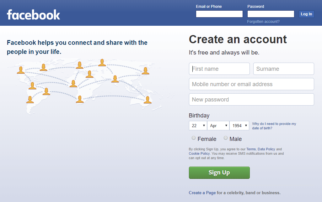 facebook hacking html front page code